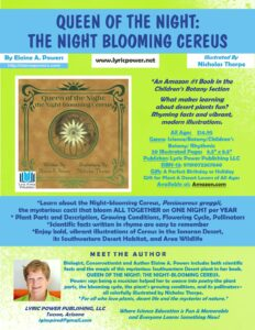 An infographic complete details of the book Queen of the Night: The Night-Blooming Cereus