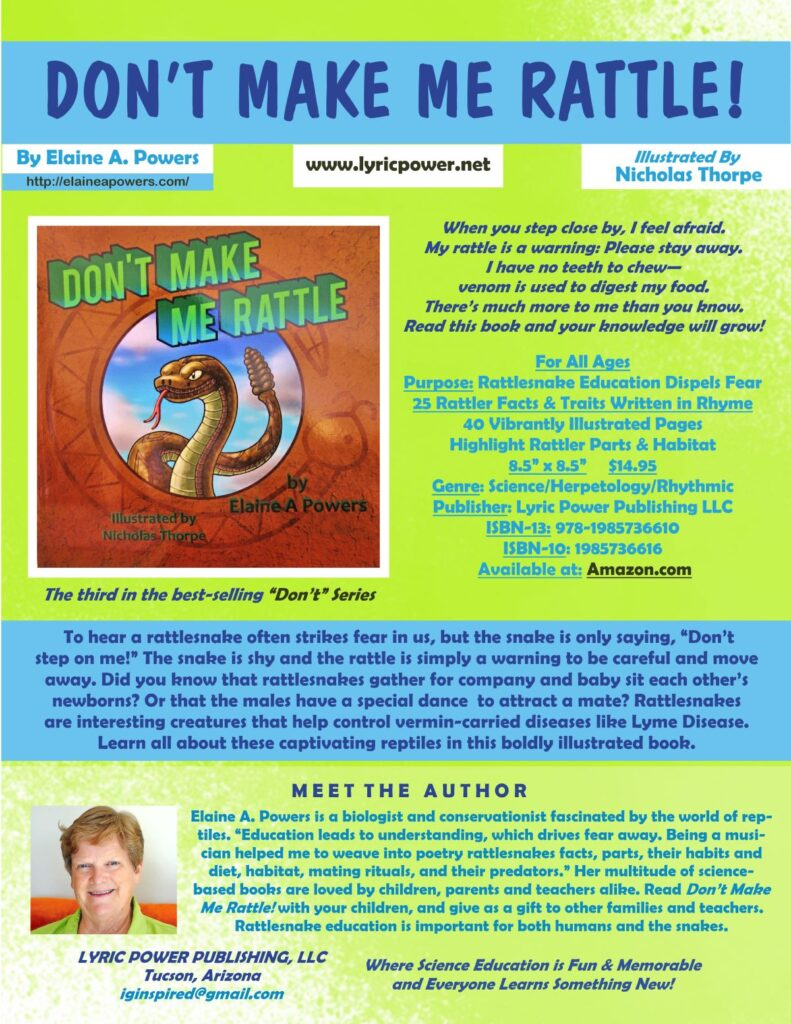 infographic complete book description of book Don't Make Me Rattle