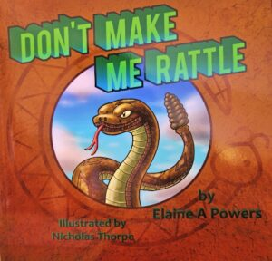 book cover graphic of rattlesnake