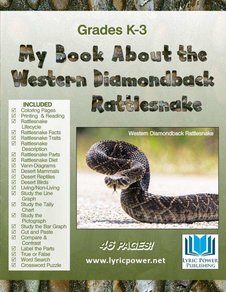 Book cover with photo of western diamondback rattler