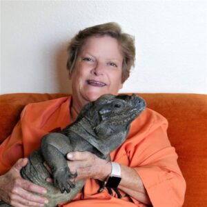 elaine a powers with rhino iguana rango