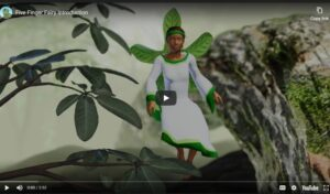 image of Tabby the five finger fairy on You Tube