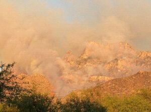 image of smoke spewing from Pusch Ridge