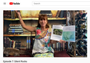 image of Susan Mule reading from Silent Rocks