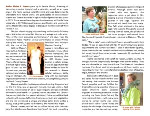 graphic of biographical information about Elaine A. Powers