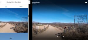 Photo of dirt road outside of Benson, AZ